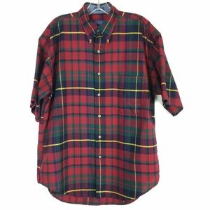 Pendleton Mens SZ Medium Shirt Plaid Short Sleeve